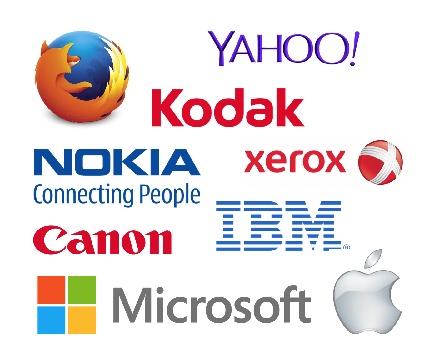 9 famous tech companies logo evolution biocorpaavc