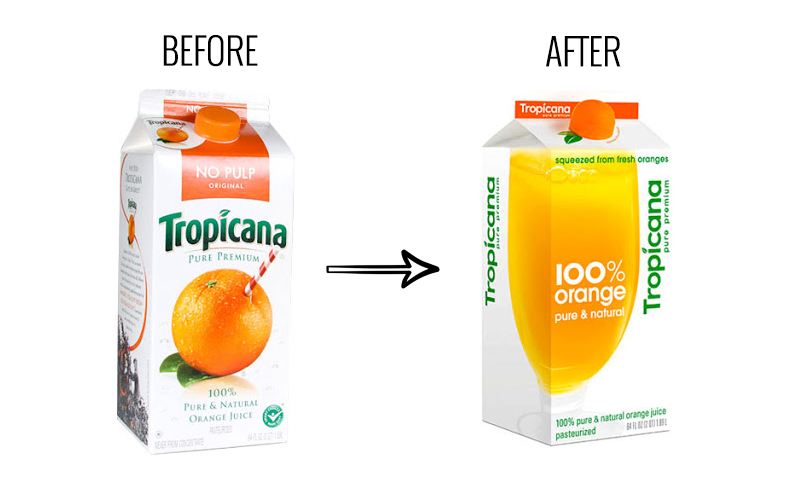 Image result for tropicana packaging change